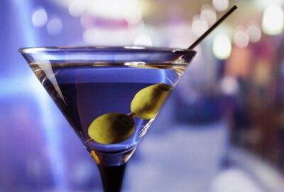 Fotomural Martini com azeitonas verdes