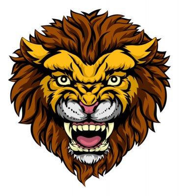 Fotomural Mascote do leão