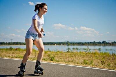 Fotomural Menina patinação