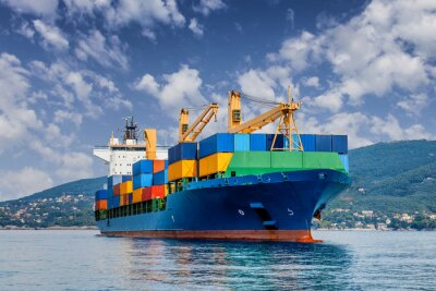 Fotomural merchant container ship