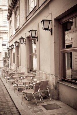 Fotomural Mesas e cadeiras em um café