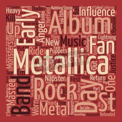 Fotomural Metallica St Anger texto conceito word word word