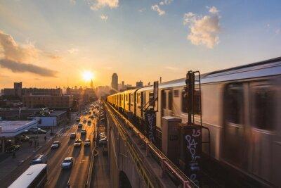 Fotomural Metro em New York at Sunset