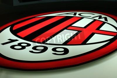 Fotomural Milan, Italy, September 20, 2010 - AC Milan logo.