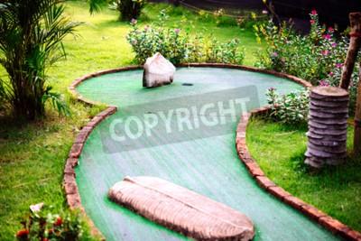 Fotomural Mini-clube de golfe decorado em estilo tailandês