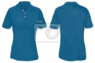 cb840401bcd9e Modelo de camisa polo azul para mulher fotomural • fotomurais ...