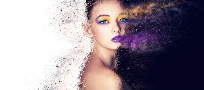 Fotomural modelo de moda retrato maquiagem criativa, foto de estúdio