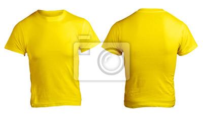 bd21a8bd94235 Fotomural Modelo masculino amarelas camisa em branco