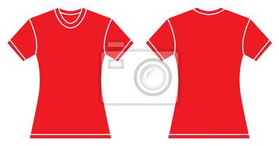 11a4ef7f2dc0e Modelo vermelho do projeto da camisa das mulheres fotomural ...