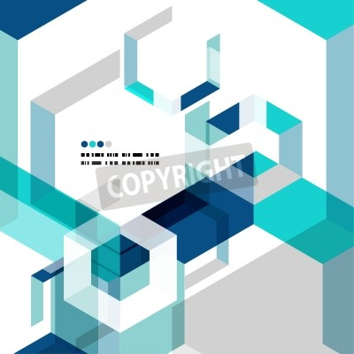 Fotomural Modern geometrical abstract vector template