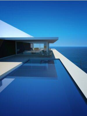 Fotomural Modern Luxury Loft / Apartamento com vista para o mar + Infinity Pool