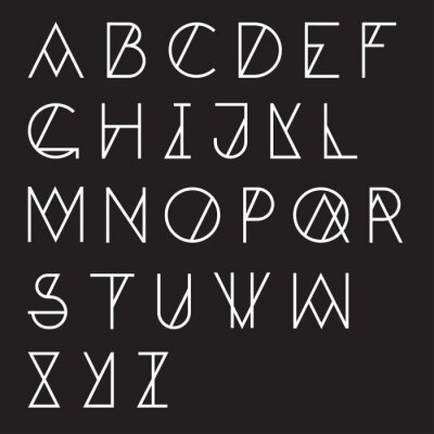 Fotomural Moderno alfabeto geométrico