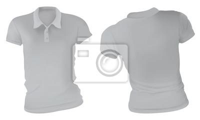 aae37f22c0685 Molde cinzento das camisas polo das mulheres fotomural • fotomurais ...