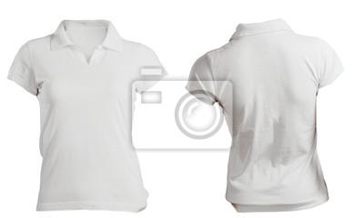 c821e9636e1d6 Fotomural Molde da camisa de polo das mulheres brancas