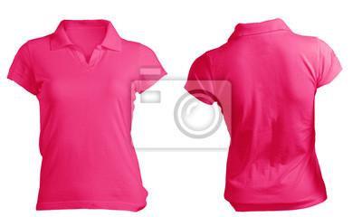 d7fc27e5f9f67 Fotomural Molde da camisa de polo das mulheres-de-rosa