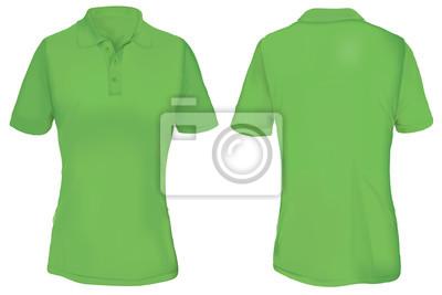 2481d531bcc73 Molde verde da camisa do pólo para a mulher fotomural • fotomurais ...