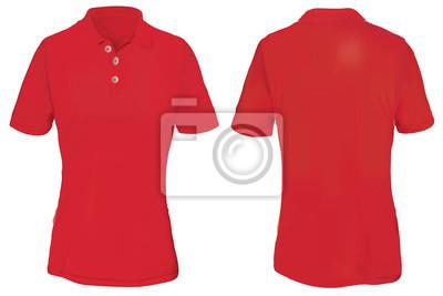 c9390f72d2301 Molde vermelho da camisa do pólo para a mulher fotomural ...