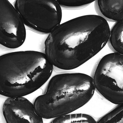 Fotomural molhadas pedras pretas
