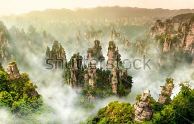 Fotomural Montanha do penhasco de Zhangjiajie em Wulingyuan Hunan China