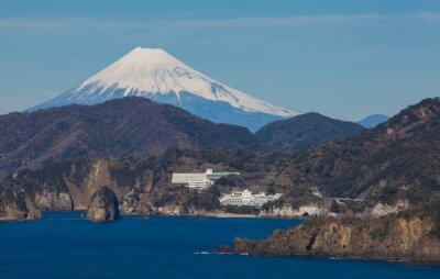 Fotomural Montanha Fuji e mar da prefeitura de Shizuoka da cidade de Izu, Japão.
