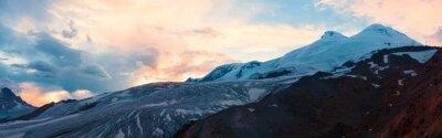 Fotomural Montanha pôr do sol inverno panorama