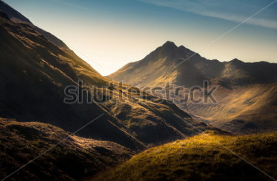 Fotomural Montanhas, em, altiplano, escócia