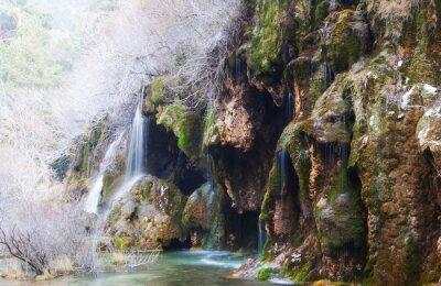 Fotomural Montanhas, Fluxo, através, musgo, pedras