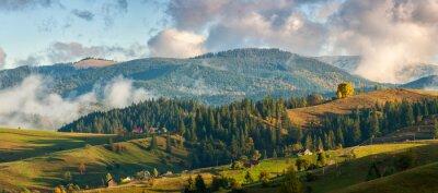 Fotomural Montanhas nas nuvens