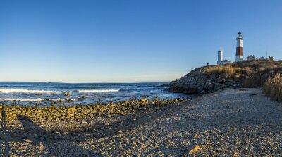 Fotomural Montauk Ponto Luz, Farol, Long Island, Nova Iorque, Suffolk