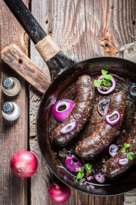 Fotomural Morcela saboroso com salsa e cebola