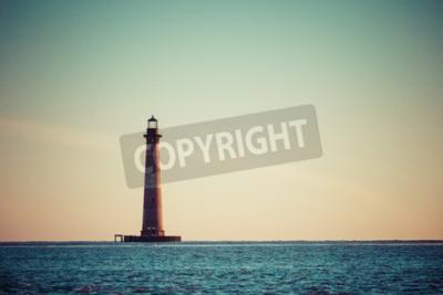 Fotomural Morris, ilha, farol, amanhecer, sul, carolina, EUA