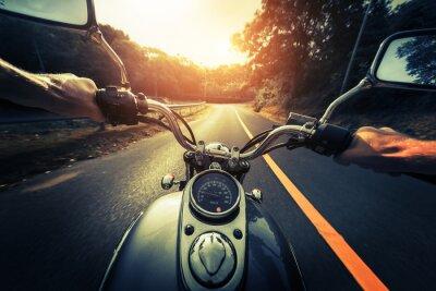 Fotomural Motocicleta, vazio, asfalto, estrada