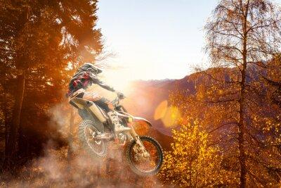 Fotomural Motocross ao pôr do sol