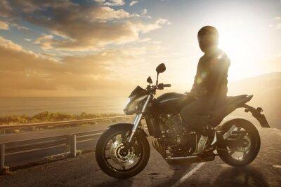 Fotomural Motorbike on an Ocean Road