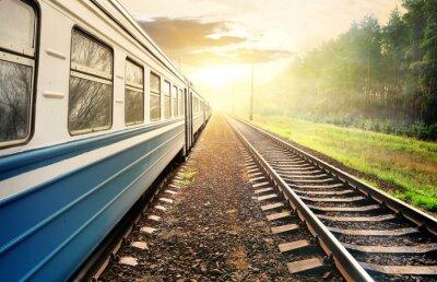 Fotomural Moving train