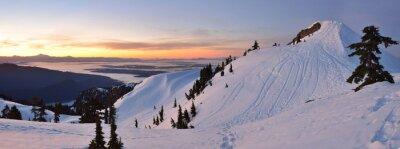 Fotomural Mt. Seymour First Pump Pico do nascer do sol do inverno, Vancouve