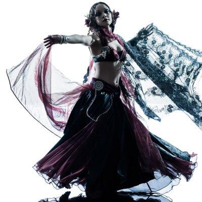 Fotomural Mulher árabe dança dança do ventre