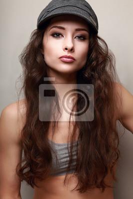 Fotomural Mulher bonita cabelo comprido 4790b219ee2