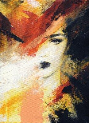 Fotomural mulher bonita. ilustração de moda. Pintura aquarela