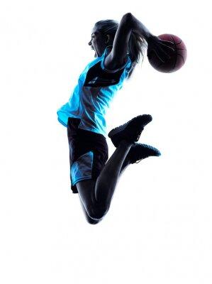 Fotomural Mulher do jogador de basquete Silhueta