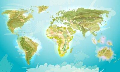 Fotomural Mundo mapa grunge estilo