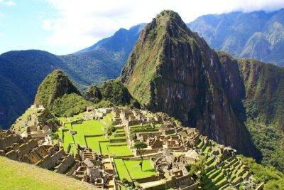 Fotomural Mysterious cidade de Machu Picchu, Peru.