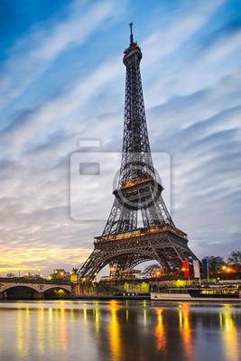 Fotomural Nascer do sol na Torre Eiffel, Paris