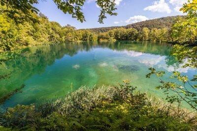 Fotomural Natureza virgem de Plitvice lagos nacional parque, Croácia