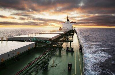 Fotomural Navio de carga em andamento