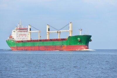 Fotomural Navio de carga grande (portador de maioria) que navega em um dia ensolarado brilhante. R