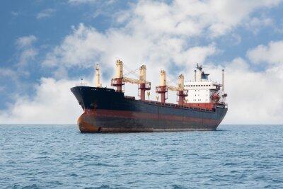 Fotomural Navio de carga seca flutuando no mar