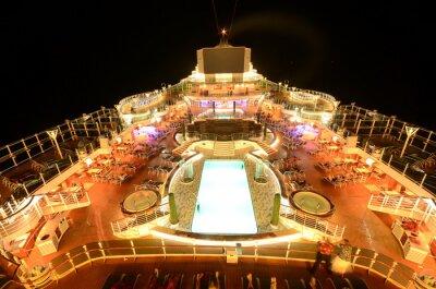Fotomural Navio de cruzeiro deck superior à noite