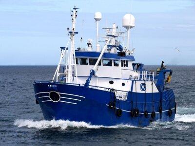 Fotomural Navio de pesca 15b, embarcação de pesca em curso para abrigar para peixe de terra.