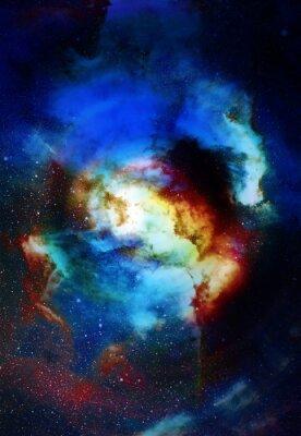 Fotomural Nebulosa, espaço cósmico e estrelas, fundo abstrato cósmico azul. Elementos desta imagem fornecida pela NASA.